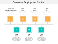 Contractor Employment Contract Ppt PowerPoint Presentation Show Design Inspiration Cpb