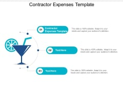 Contractor Expenses Template Ppt PowerPoint Presentation Show Rules Cpb