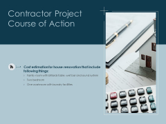 Contractor Project Course Of Action Ppt PowerPoint Presentation Icon Demonstration