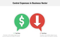 Control Expenses In Business Vector Ppt PowerPoint Presentation Inspiration Portrait