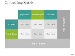 Control Imp Matrix Ppt PowerPoint Presentation Guide
