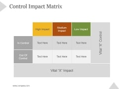 Control Impact Matrix Ppt PowerPoint Presentation Example