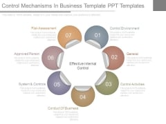 Control Mechanisms In Business Template Ppt Templates