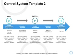 Control System Output Ppt PowerPoint Presentation Professional Show