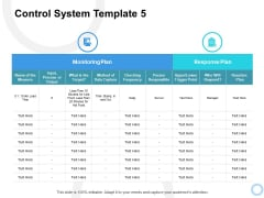 Control System Plan Ppt PowerPoint Presentation Outline Guidelines