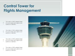 Control Tower For Flights Management Ppt PowerPoint Presentation Ideas Smartart