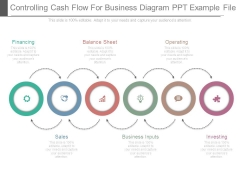 Controlling Cash Flow For Business Diagram Ppt Example File