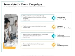 Controlling Customer Retention Several Anti Churn Campaigns Ppt Infographic Template Format Ideas PDF