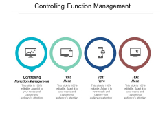 Controlling Function Management Ppt Powerpoint Presentation Layouts Graphics Pictures Cpb