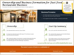 Convenience Food Business Plan Ownership And Business Formation For Fast Food Restaurant Business Themes PDF