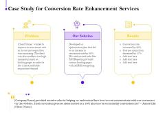 Conversion Rate Optimization Case Study For Conversion Rate Enhancement Services Ppt Styles Clipart Images PDF