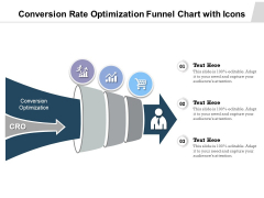 Conversion Rate Optimization Funnel Chart With Icons Ppt PowerPoint Presentation Layouts Visual Aids PDF