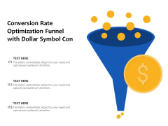 Conversion Rate Optimization Funnel With Dollar Symbol Con Ppt PowerPoint Presentation Gallery Graphics Pictures PDF