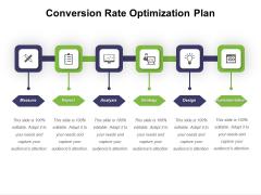 Conversion Rate Optimization Plan Ppt PowerPoint Presentation Infographics Infographics PDF