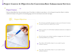 Conversion Rate Optimization Project Context And Objectives For Conversion Rate Enhancement Services Inspiration PDF