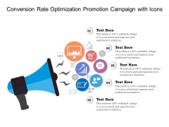 Conversion Rate Optimization Promotion Campaign With Icons Ppt PowerPoint Presentation Gallery Model PDF