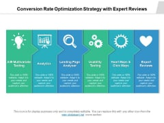 Conversion Rate Optimization Strategy With Expert Reviews Ppt PowerPoint Presentation Outline Topics PDF