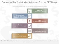 Conversion Rate Optimization Techniques Diagram Ppt Design