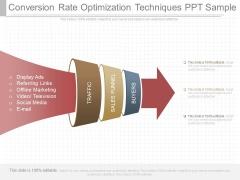 Conversion Rate Optimization Techniques Ppt Sample