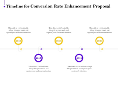 Conversion Rate Optimization Timeline For Conversion Rate Enhancement Proposal Ppt Inspiration Ideas PDF