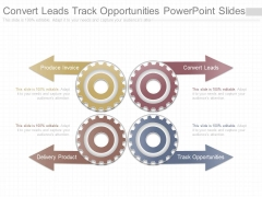 Convert Leads Track Opportunities Powerpoint Slides