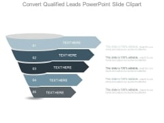 Convert Qualified Leads Powerpoint Slide Clipart