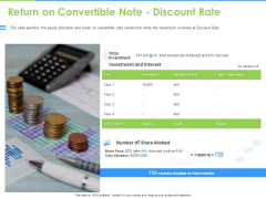 Convertible Bonds Pitch Deck For Increasing Capitals Return On Convertible Note Discount Rate Introduction PDF