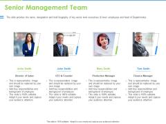 Convertible Bonds Pitch Deck For Increasing Capitals Senior Management Team Graphics PDF
