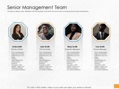 Convertible Debenture Funding Senior Management Team Ppt PowerPoint Presentation Pictures Background Designs PDF