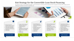 Convertible Debt Financing Pitch Deck Exit Strategy For The Convertible Loan Stock Financing Clipart PDF