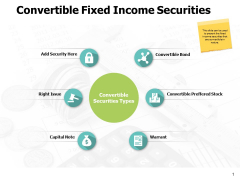 Convertible Fixed Income Securities Ppt PowerPoint Presentation Ideas Example