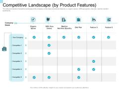 Convertible Market Notes Competitive Landscape By Product Features Ppt Portfolio Introduction PDF