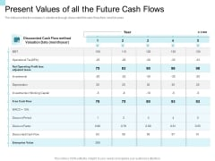 Convertible Market Notes Present Values Of All The Future Cash Flows Ppt Infographic Template Sample PDF