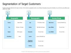 Convertible Preferred Stock Funding Pitch Deck Segmentation Of Target Customers Mockup PDF