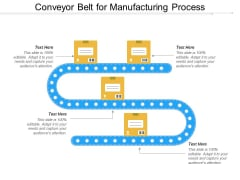 Conveyor Belt For Manufacturing Process Ppt PowerPoint Presentation Model Information