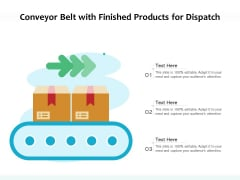 Conveyor Belt With Finished Products For Dispatch Ppt PowerPoint Presentation Visual Aids Styles PDF