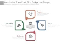 Coordinates Powerpoint Slide Background Designs