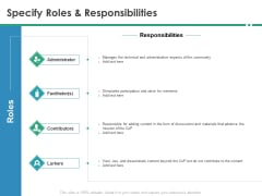 Cops Specify Roles And Responsibilities Ppt Inspiration Microsoft PDF