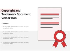 Copyright And Trademark Document Vector Icon Ppt PowerPoint Presentation Infographic Template Model PDF