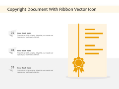 Copyright Document With Ribbon Vector Icon Ppt PowerPoint Presentation Pictures Slide Portrait PDF