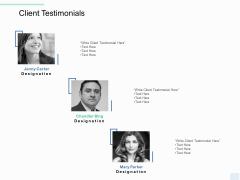 Copywriting Service Client Testimonials Ppt Portfolio Icons PDF