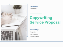 Copywriting Service Proposal Ppt PowerPoint Presentation Complete Deck With Slides