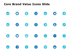 Core Brand Value Icons Slide Ppt PowerPoint Presentation Ideas Outline