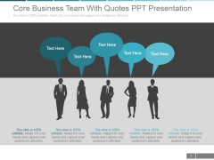 Core Business Team With Quotes Ppt PowerPoint Presentation Information