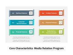 Core Characteristics Media Relation Program Ppt PowerPoint Presentation File Slide Portrait PDF