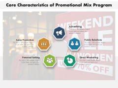 Core Characteristics Of Promotional Mix Program Ppt PowerPoint Presentation Gallery Example PDF