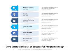 Core Characteristics Of Successful Program Design Ppt PowerPoint Presentation File Guide PDF