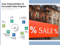 Core Characteristics Of Successful Sales Program Ppt PowerPoint Presentation File Layouts PDF