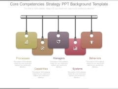 Core Competencies Strategy Ppt Background Template