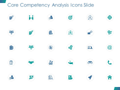 Core Competency Analysis Icons Slide Marketing Ppt PowerPoint Presentation Portfolio Sample